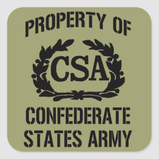 Pegatina confederado del ejército de los estados