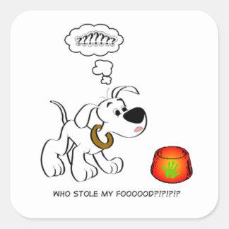 Pegatina confuso del perrito