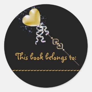Pegatina conocido del libro (vara mágica)