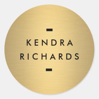 Pegatina conocido del logotipo del oro