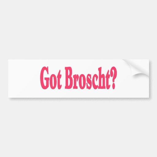 Pegatina conseguido del Borscht Etiqueta De Parachoque