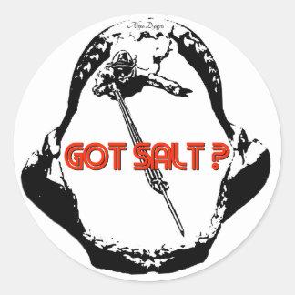 Pegatina conseguido del mandíbula de la sal
