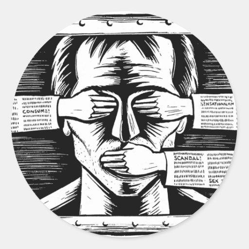 Pegatina contra cualquier tipo de censura