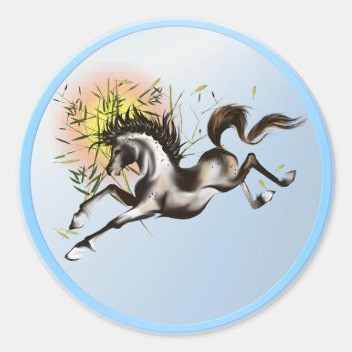 Pegatina corriente del caballo
