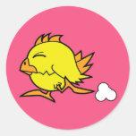 Pegatina corriente del polluelo