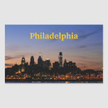 Pegatina crepuscular del horizonte de Philadelphia