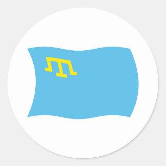 Pegatina crimeo de la bandera de tártaros
