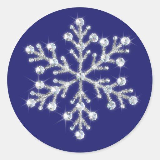 Pegatina cristalino del copo de nieve