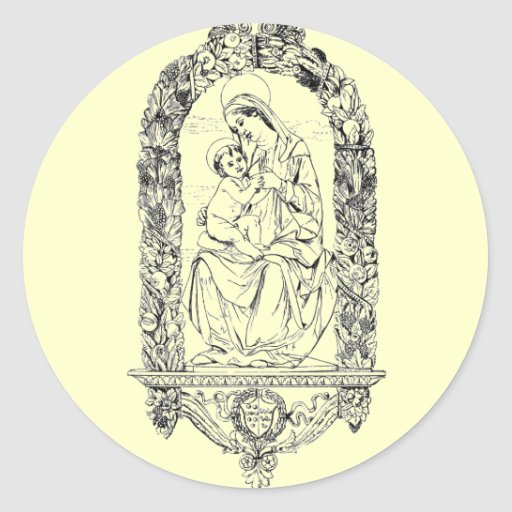 Pegatina cristiano de los símbolos