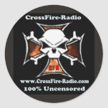pegatina cruzado de la radio del fuego