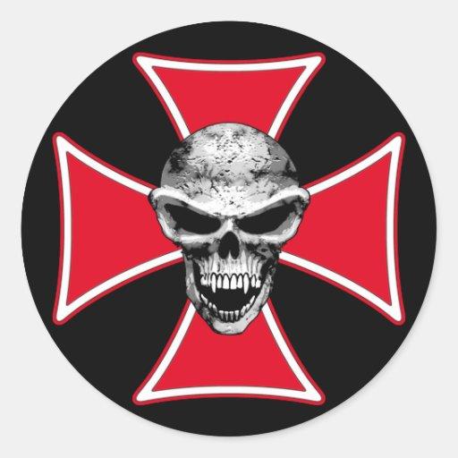 pegatina cruzado del cráneo de los maltess