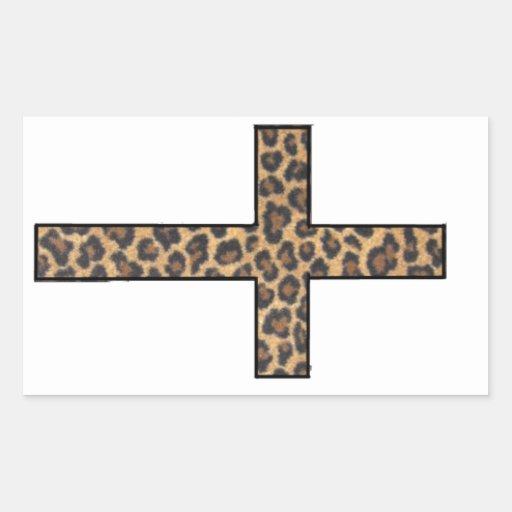 Pegatina cruzado del guepardo