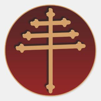 Pegatina cruzado del oro de Maronite
