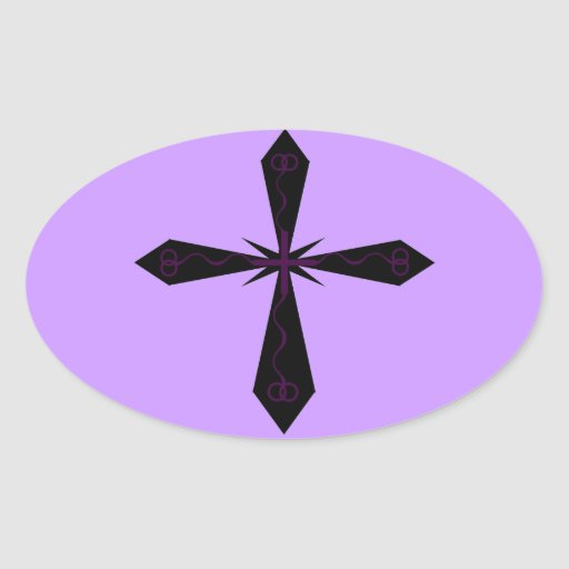Pegatina cruzado gótico