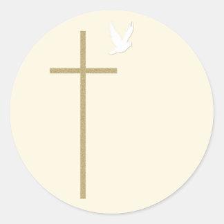 Pegatina cruzado religioso cristiano
