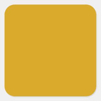 Pegatina cuadrado anaranjado