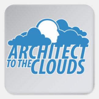 Pegatina cuadrado - arquitecto a las nubes