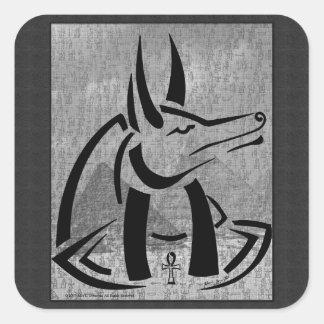 Pegatina cuadrado de Anubis