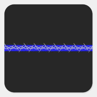 Pegatina cuadrado de Blue Line de las correcciones