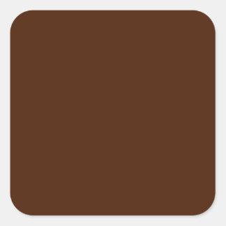 Pegatina cuadrado de Brown