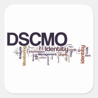 Pegatina cuadrado de DSCMO