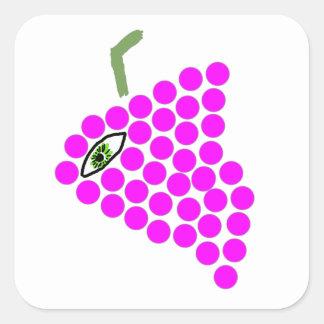 """""""Pegatina cuadrado de los Cyclops de la uva"""""""