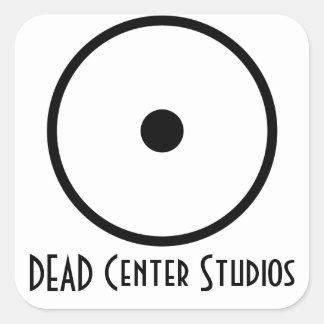 Pegatina cuadrado de los estudios del punto muerto