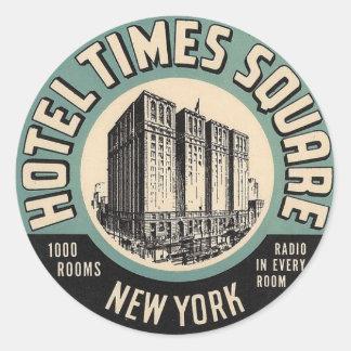 Pegatina cuadrado de New York Times del hotel del