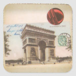Pegatina cuadrado de París