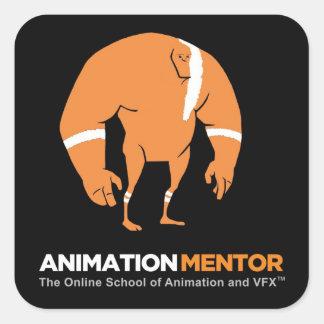 Pegatina cuadrado de Stan - mentor de la animación