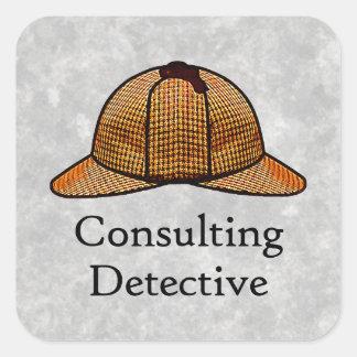 Pegatina cuadrado detective asesor