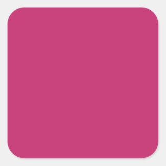Pegatina cuadrado grande rosado quemado