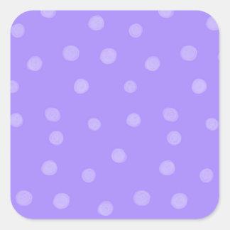 Pegatina cuadrado púrpura pintado de los puntos