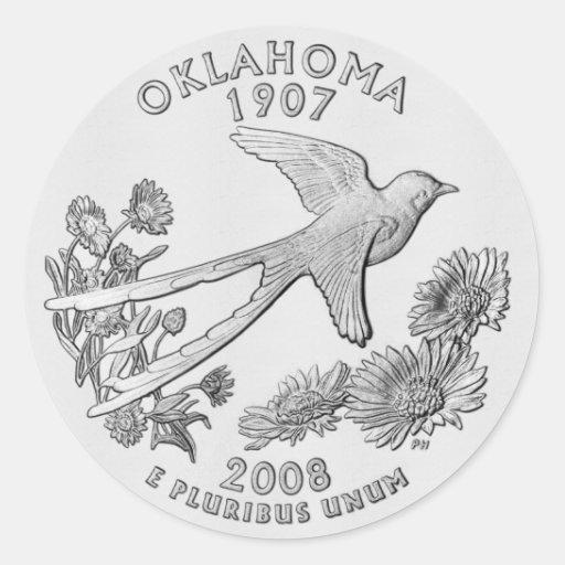Pegatina cuarto de Oklahoma