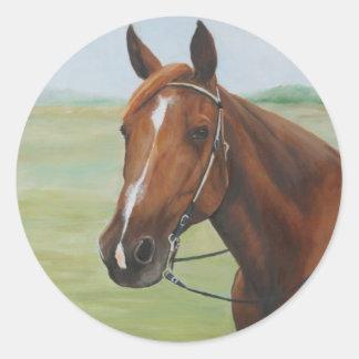 Pegatina cuarto del arte del caballo