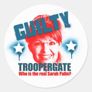 Pegatina culpable de Troopergate Sarah Palin