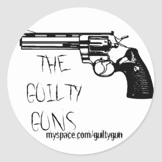 Pegatina culpable estándar de los armas