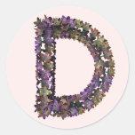 Pegatina D de la flor