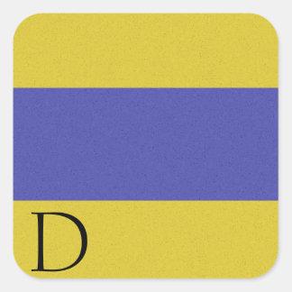 Pegatina D del alfabeto de la bandera de señal