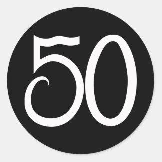 Pegatina de 50 blancos
