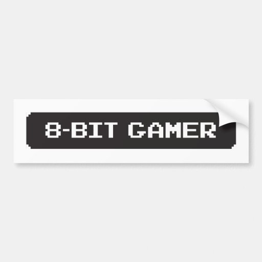 pegatina de 8 bits de Bumber del videojugador Etiqueta De Parachoque