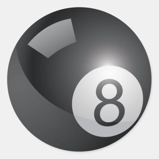 Pegatina de 8 bolas