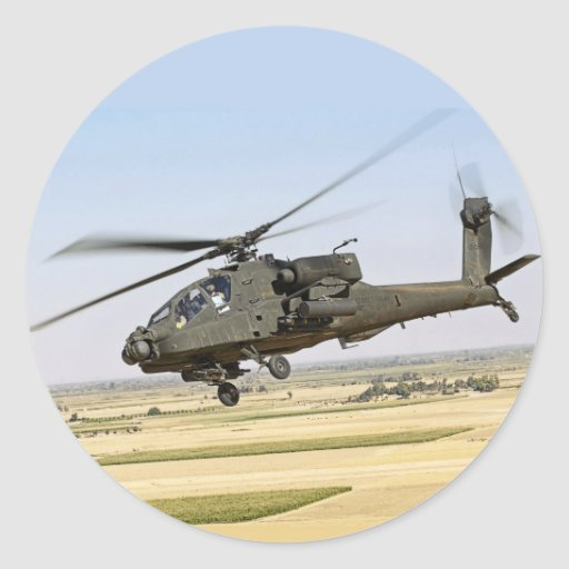 Pegatina de AH-64 Apache