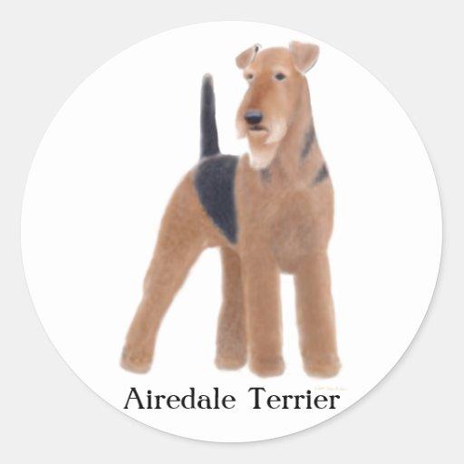 Pegatina de Airedale Terrier