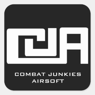 Pegatina de Airsoft de los drogadictos del combate