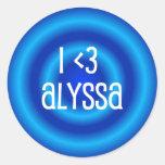 Pegatina de Alyssa