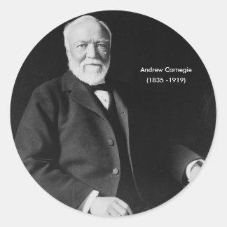 Pegatina de Andrew Carnegie
