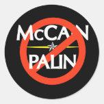 Pegatina de Anti-McCain/Palin