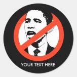 Pegatina de Anti-Obama/modificado para requisitos