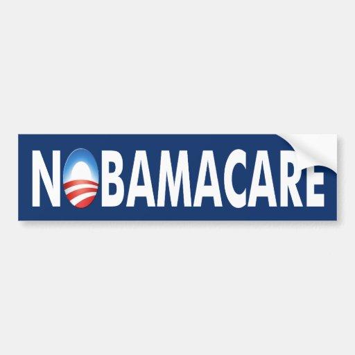 """Pegatina de Anti-Obama """"NoBamacare"""" Etiqueta De Parachoque"""